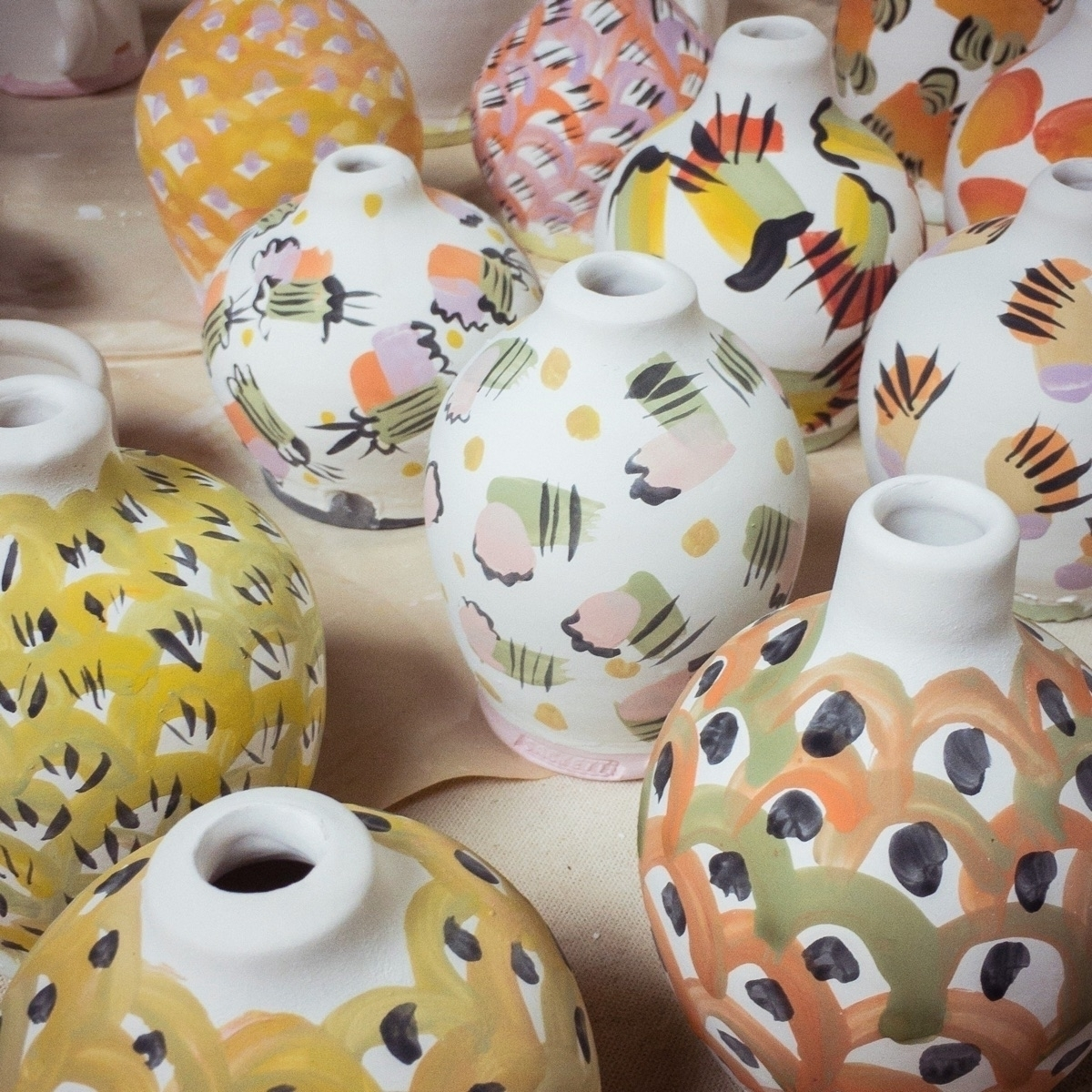 Glazing small vases - ceramic, ceramics - davidsackett | ello
