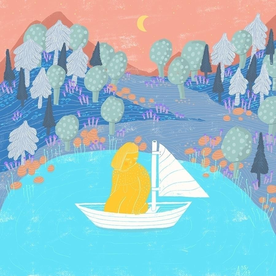 Landscapes - dreamy, illustration - sleepydolphin | ello