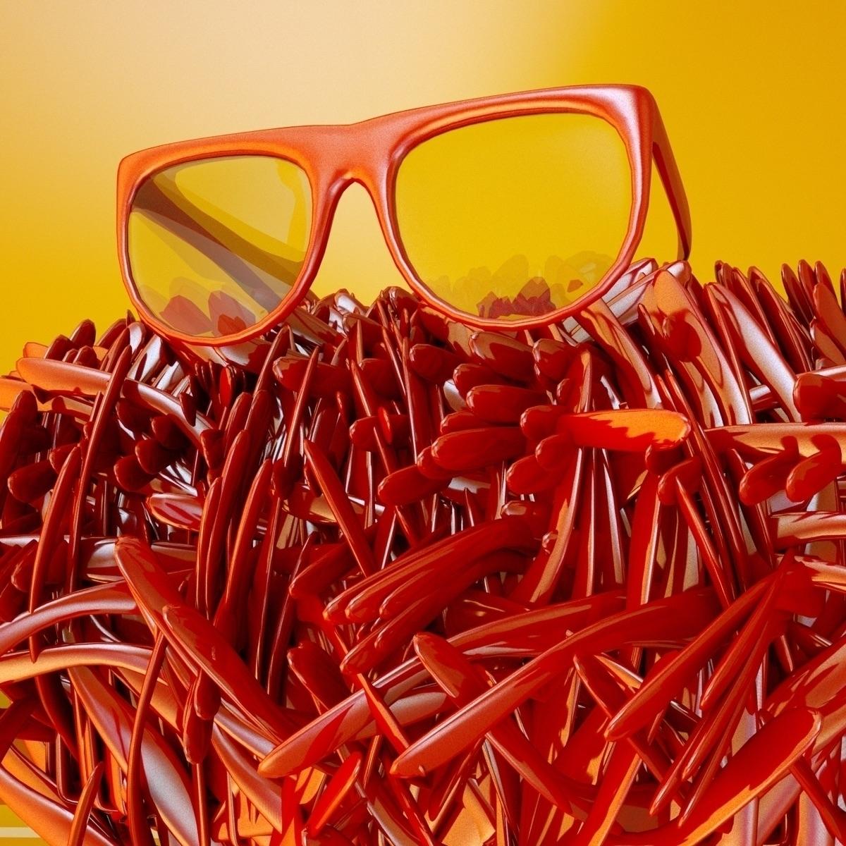 glasses - cinema4d, c4d, 3d, cgi - imhybrid | ello