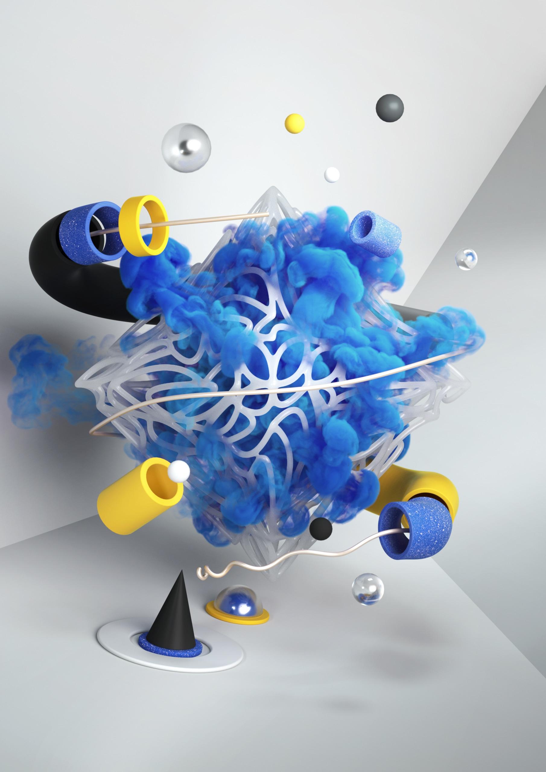 FLOATING 02 /alt colours - art, render - mateuszkrol | ello