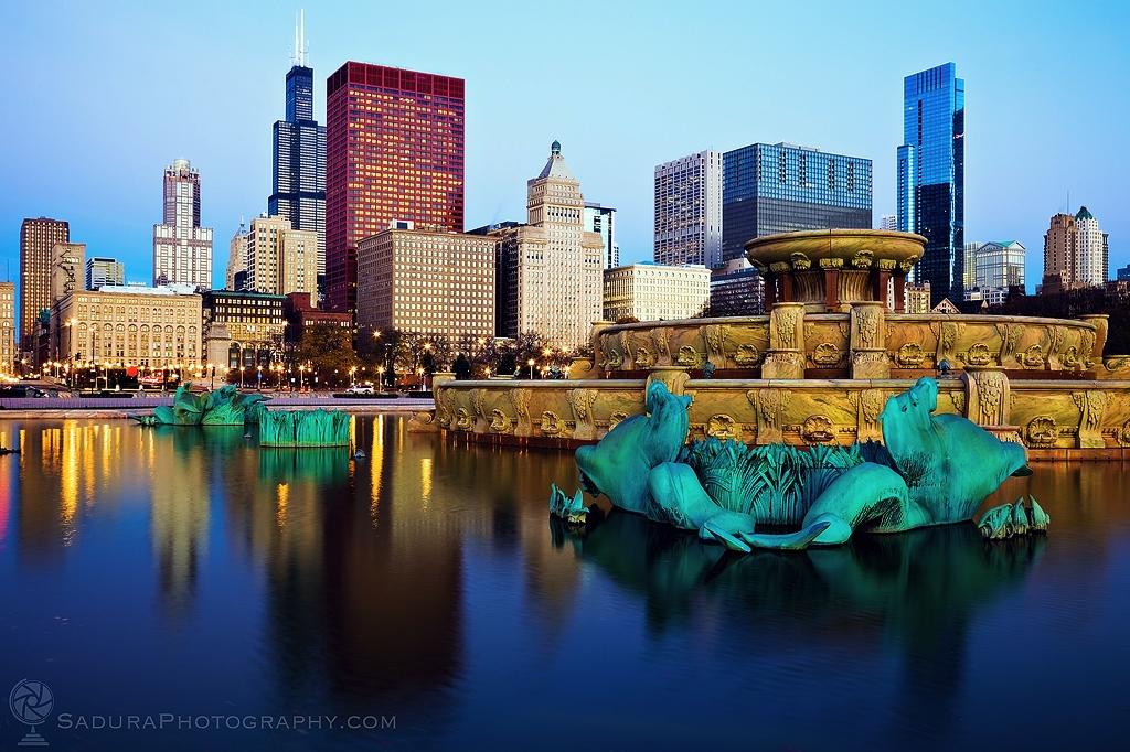 Chicago skyline reflected Bucki - hsphotos | ello