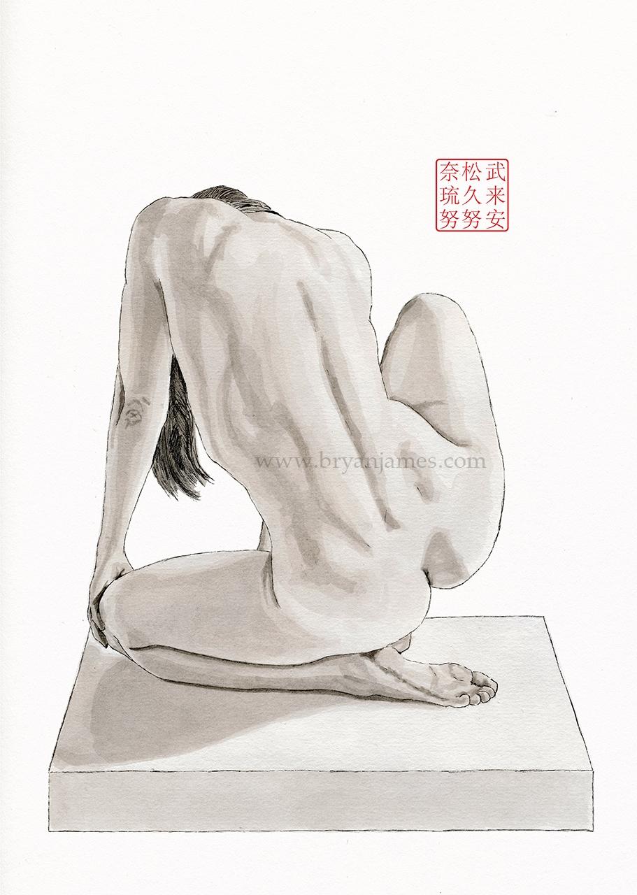 Figure Study - Ink Paper. drawi - bryanjamesart   ello