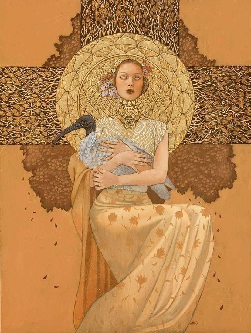 Love Maiden painting Leilani Bu - moderneden   ello