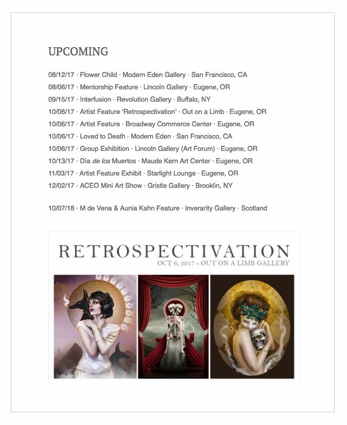 Upcoming Exhibition Schedule Le - auniakahn | ello