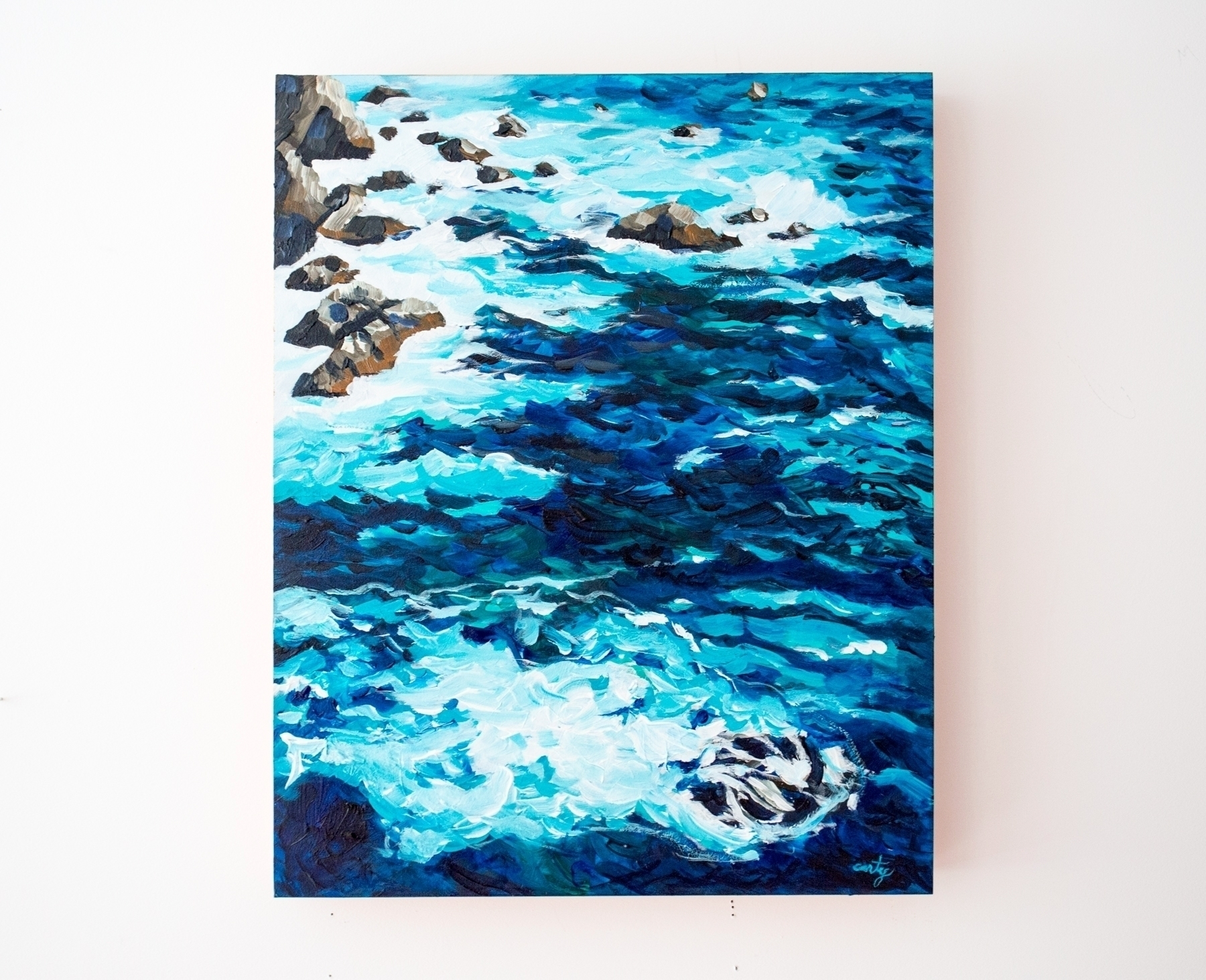 Release Maine Seascape Painting - megancarty | ello