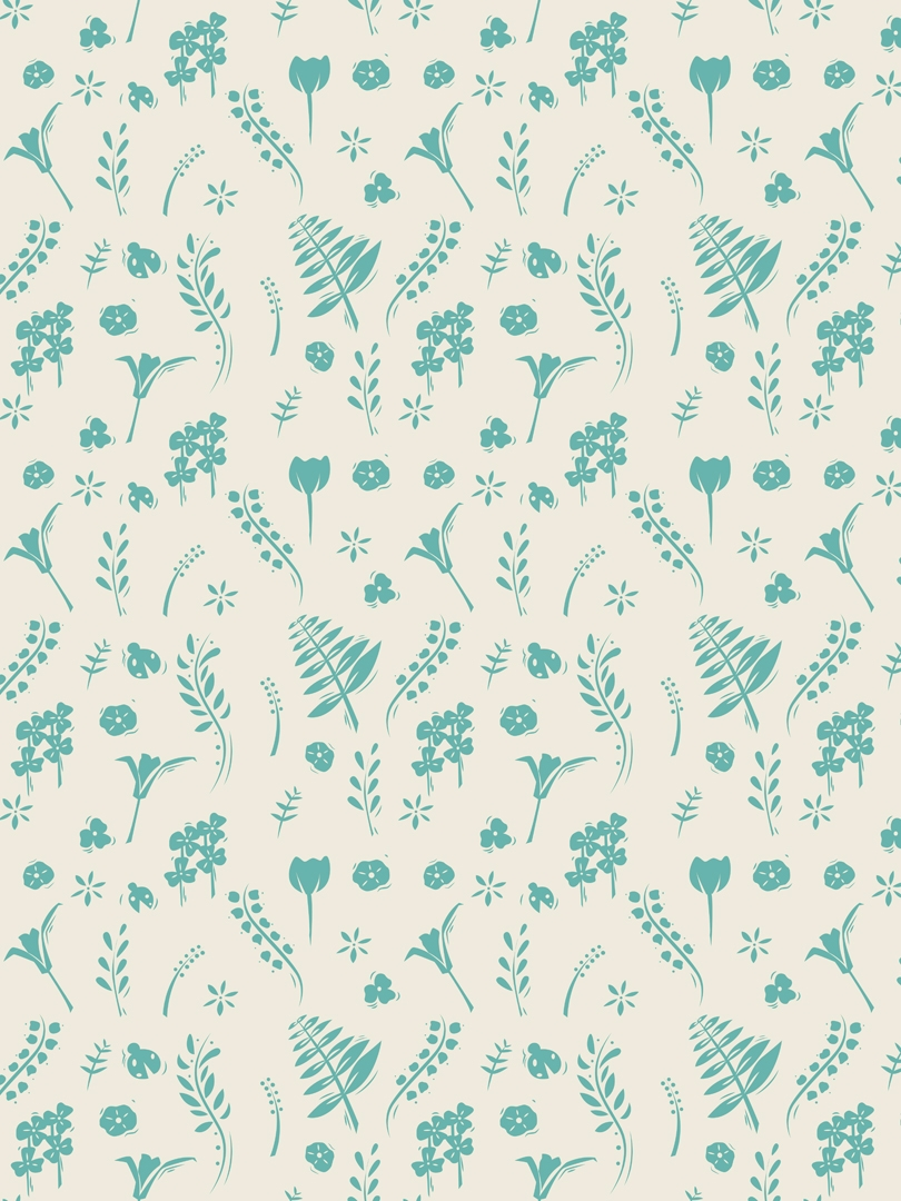 block print inspired botanical  - svaeth | ello