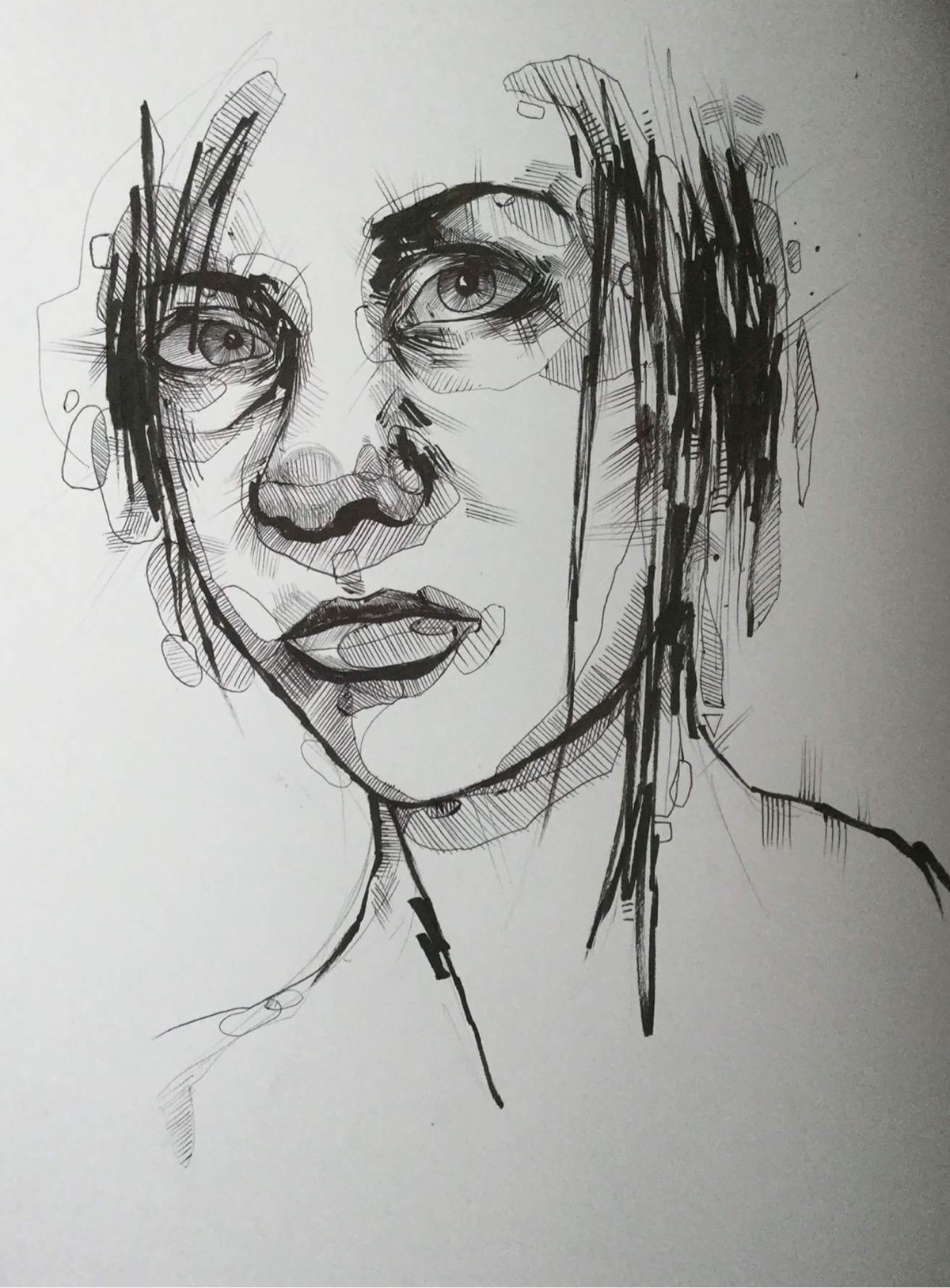 Pen ink portrait month art busy - jordansummers | ello