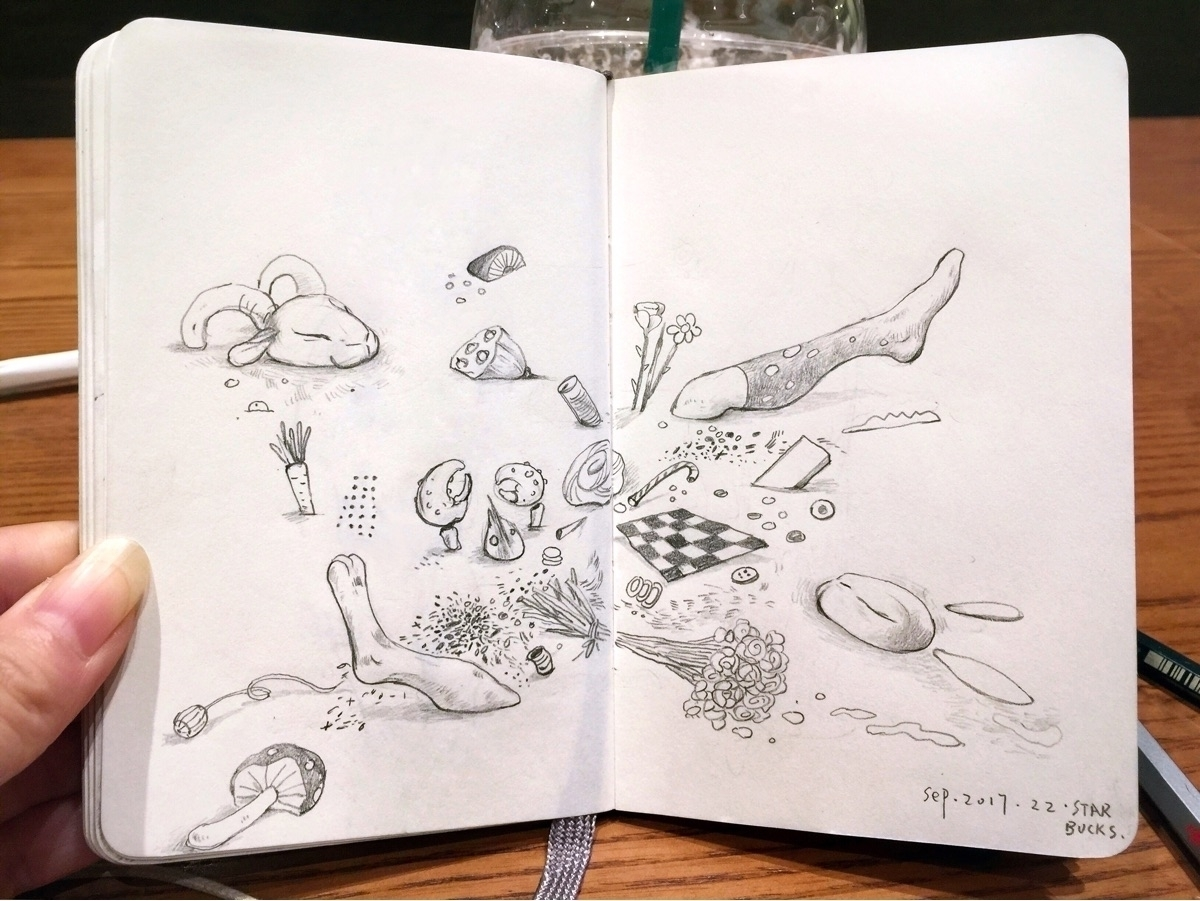 sketchaday, sketchbook, moleskine - alice_lin | ello