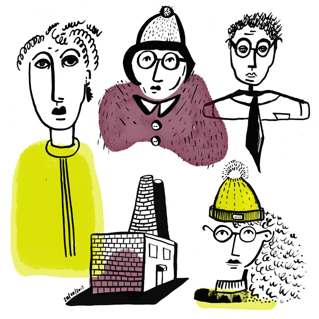 Sketchbook. pen, ink markers - illustration - a-bunch-of-bananas   ello