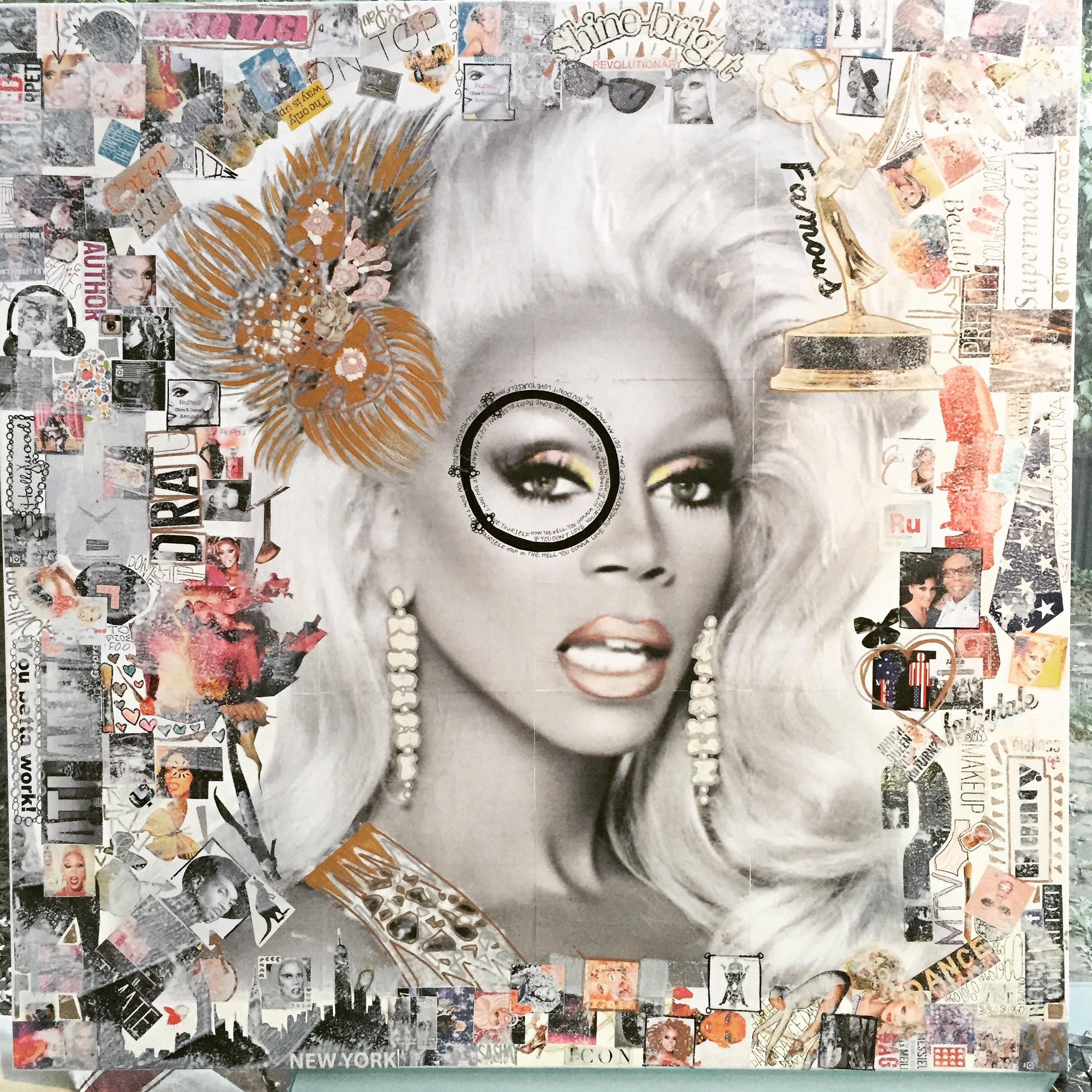 RuPaul Supermodel. Collage Canv - antadams | ello