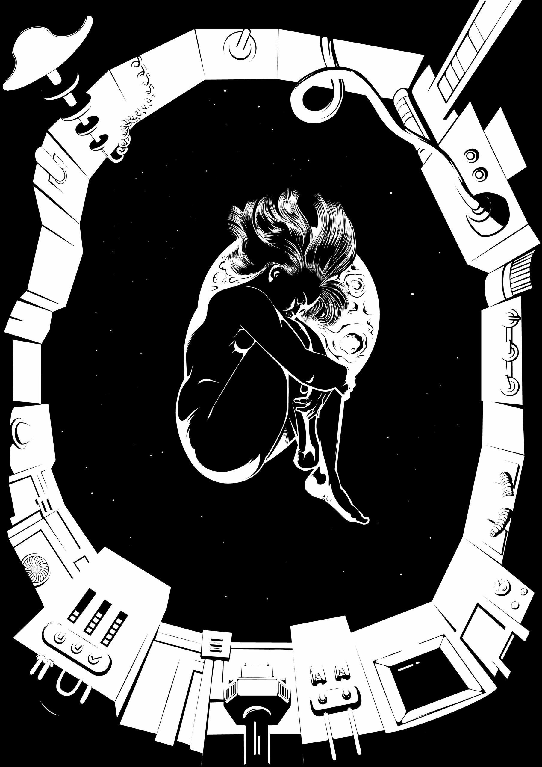 space. Submitted - astronaut, retro - juliusllopis | ello