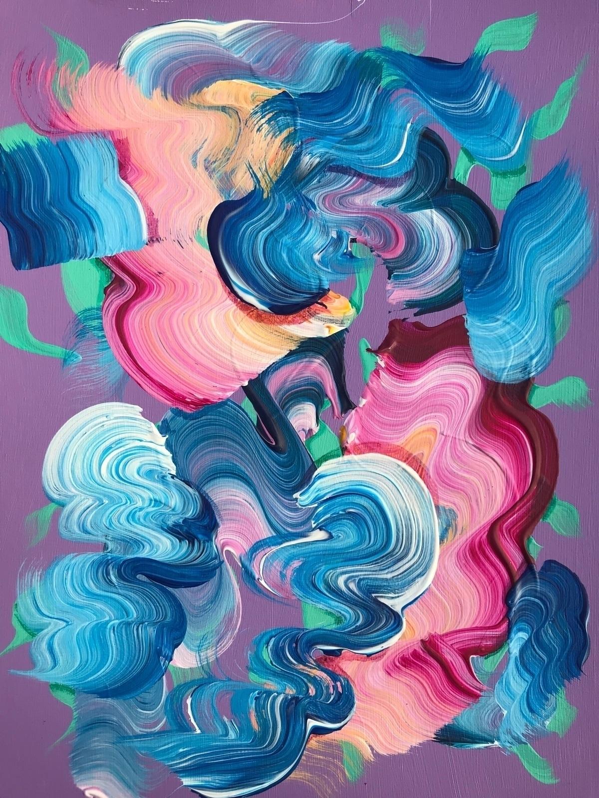 "Untitled 9 12"" Acrylic paper - dhuston | ello"