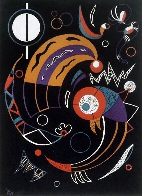 Wassily 1938 - Kandinsky,, Comets, - bauhaus-movement | ello