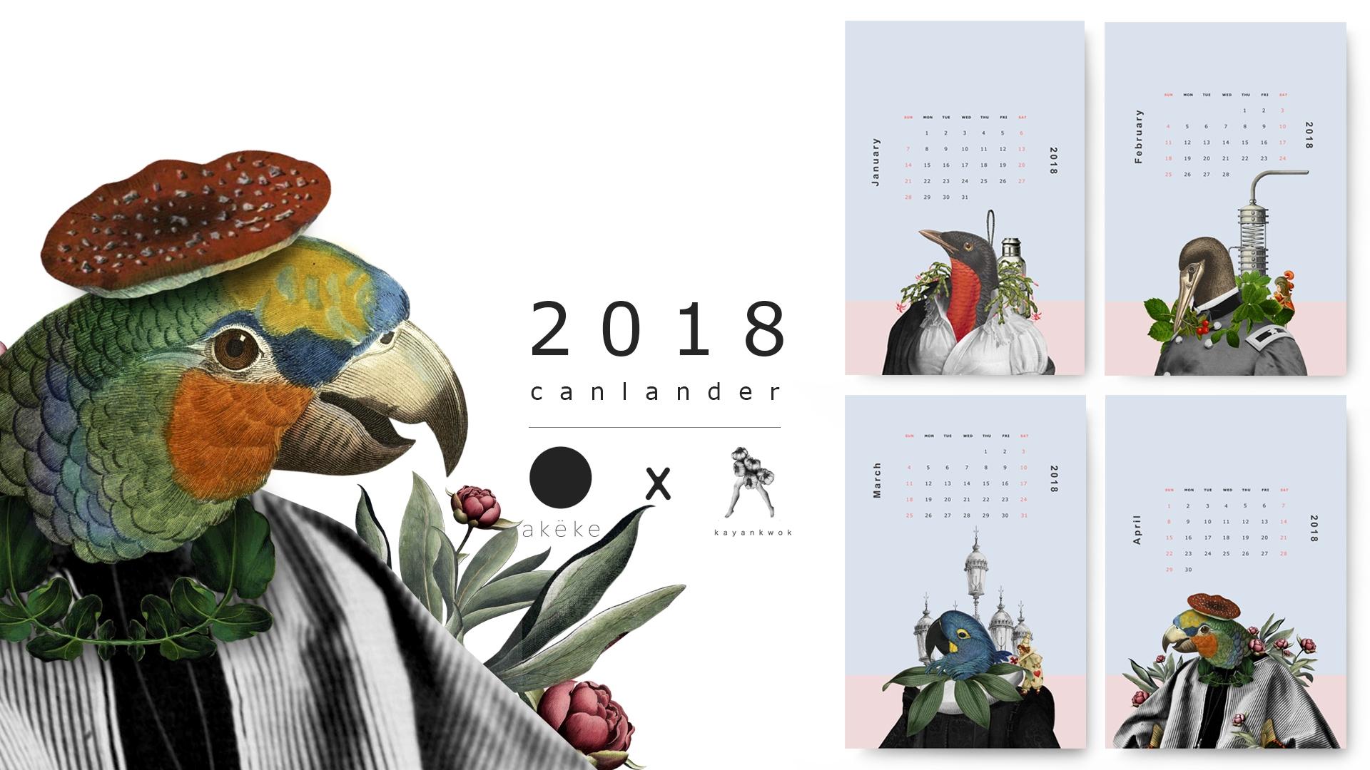 Birdman 2018 Postcard Calendar  - kayankwok   ello