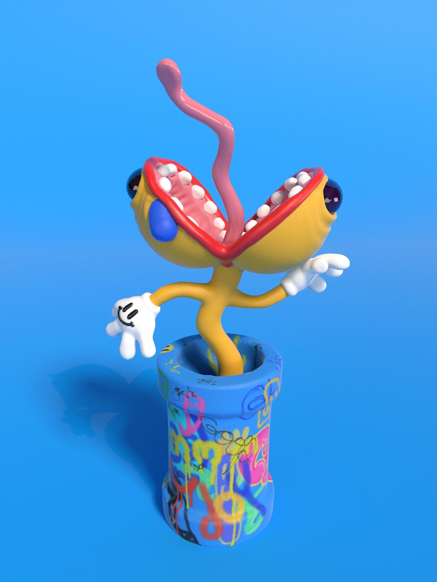 Piranha Plant parts - Mario, VirtualReality - joy | ello