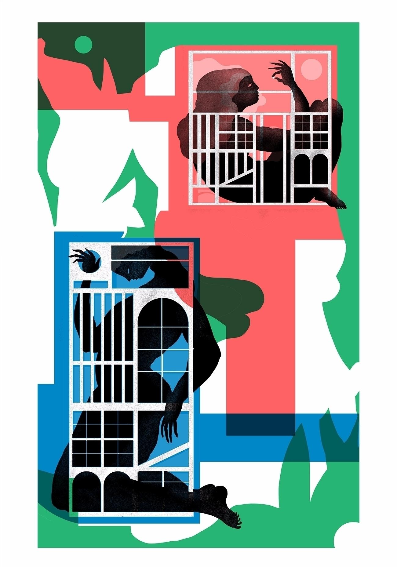 Escape city - illustration, digitalart - julien_brogard | ello
