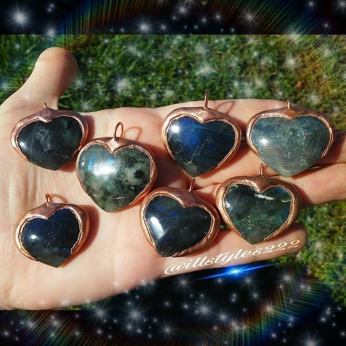 Copper Labradorite Heart Pendan - illstyles222 | ello