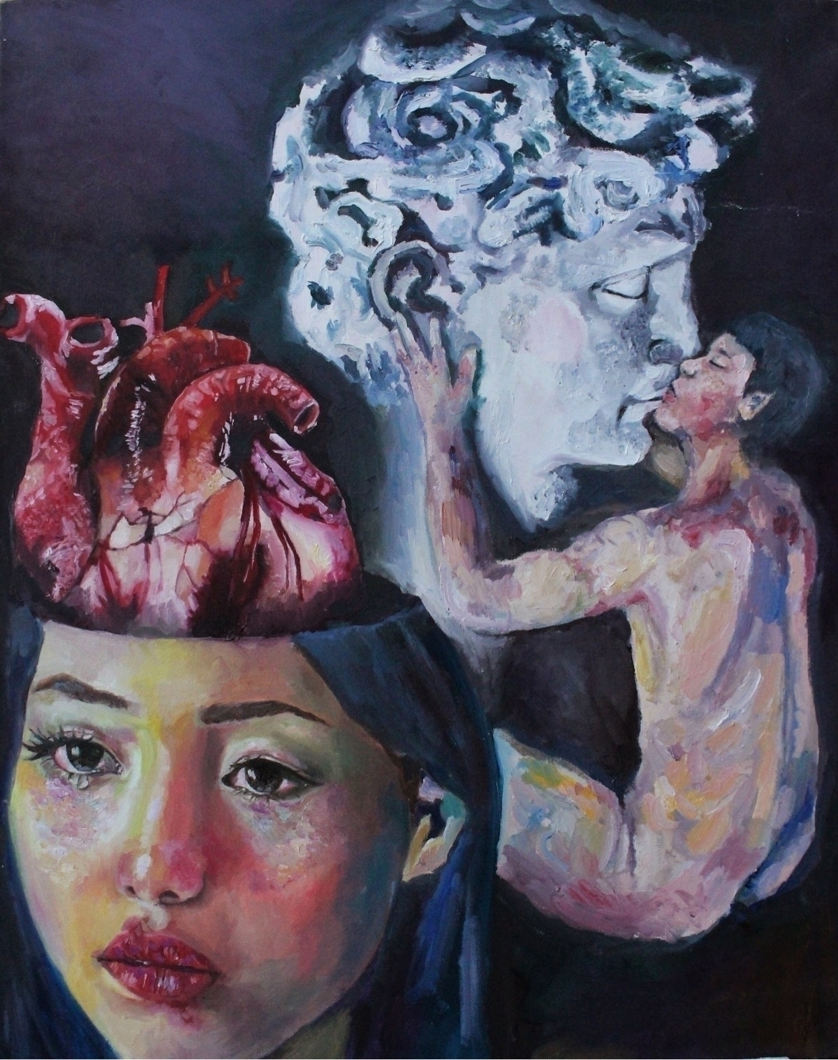 Ur heart thinking, oil canvas - jobellequijano | ello