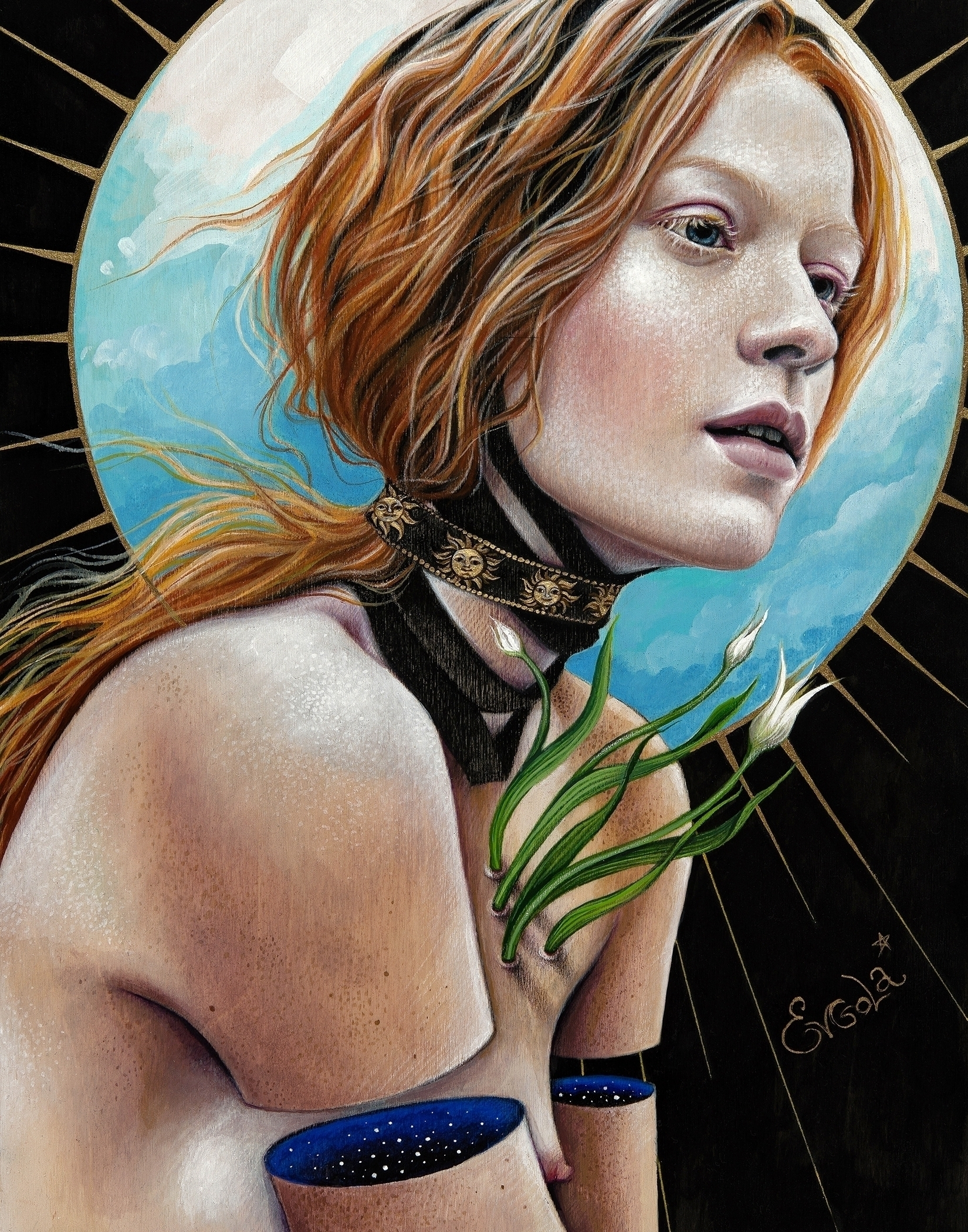 """Venus"" Acrylic, colored pencil - evgola 