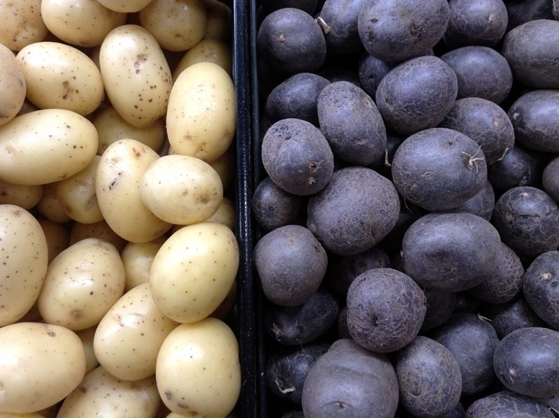 White blue - photography, potatoes - dispel | ello