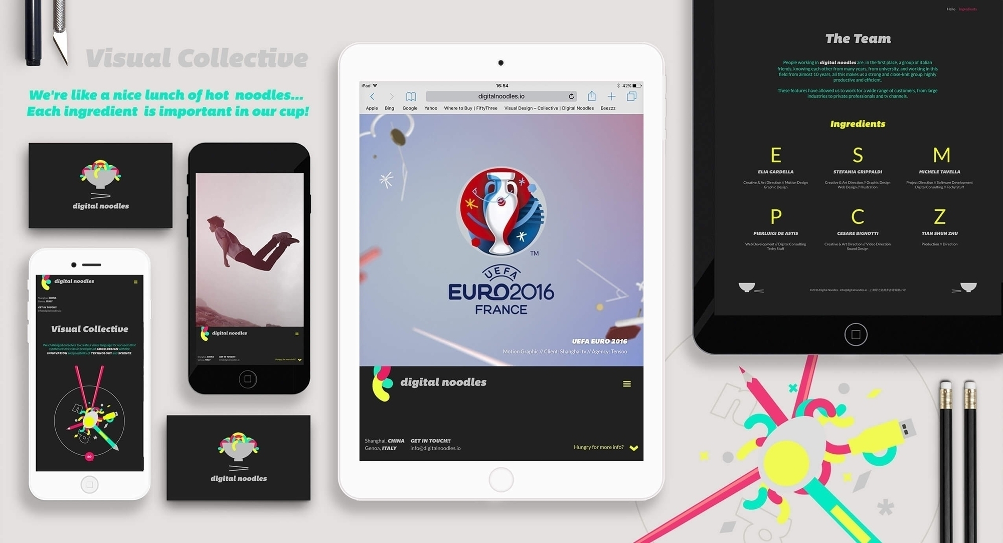 website Art direction, creative - ideasfly | ello