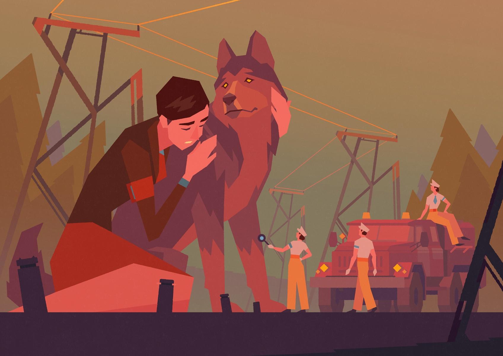 Art, Illustration, Dog, Girl - vlad_gusev | ello