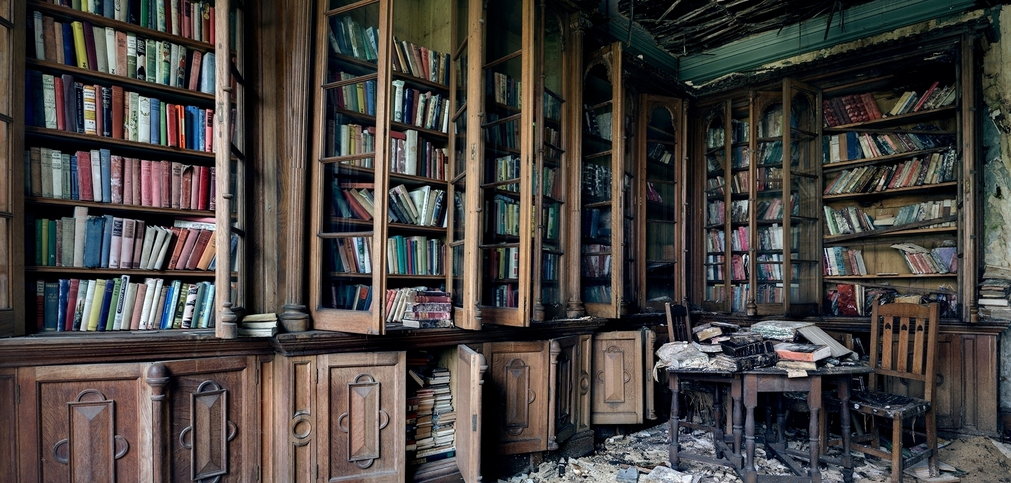 amazing library slowly rotting  - forgottenheritage | ello