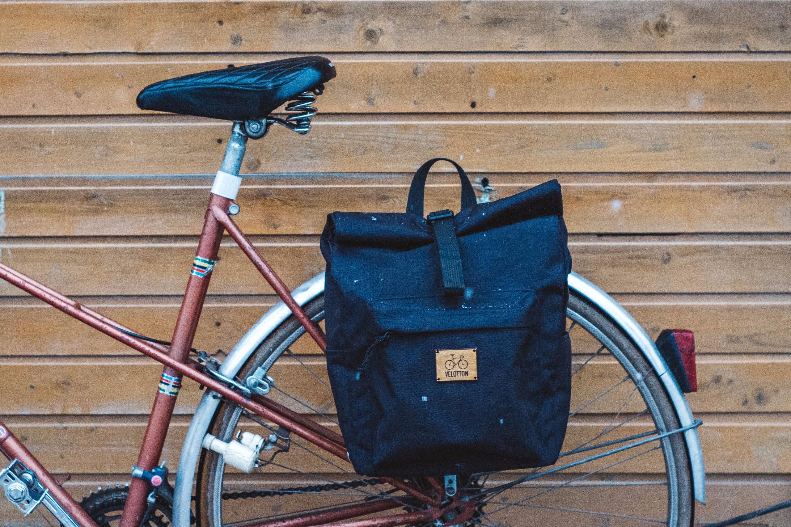 Roll top Pannier Backpack Penny - velotton | ello