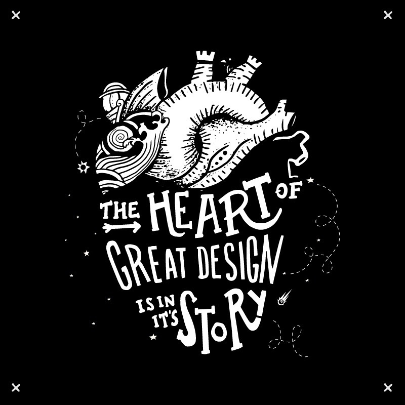 heart great design lies ability - whackoink | ello