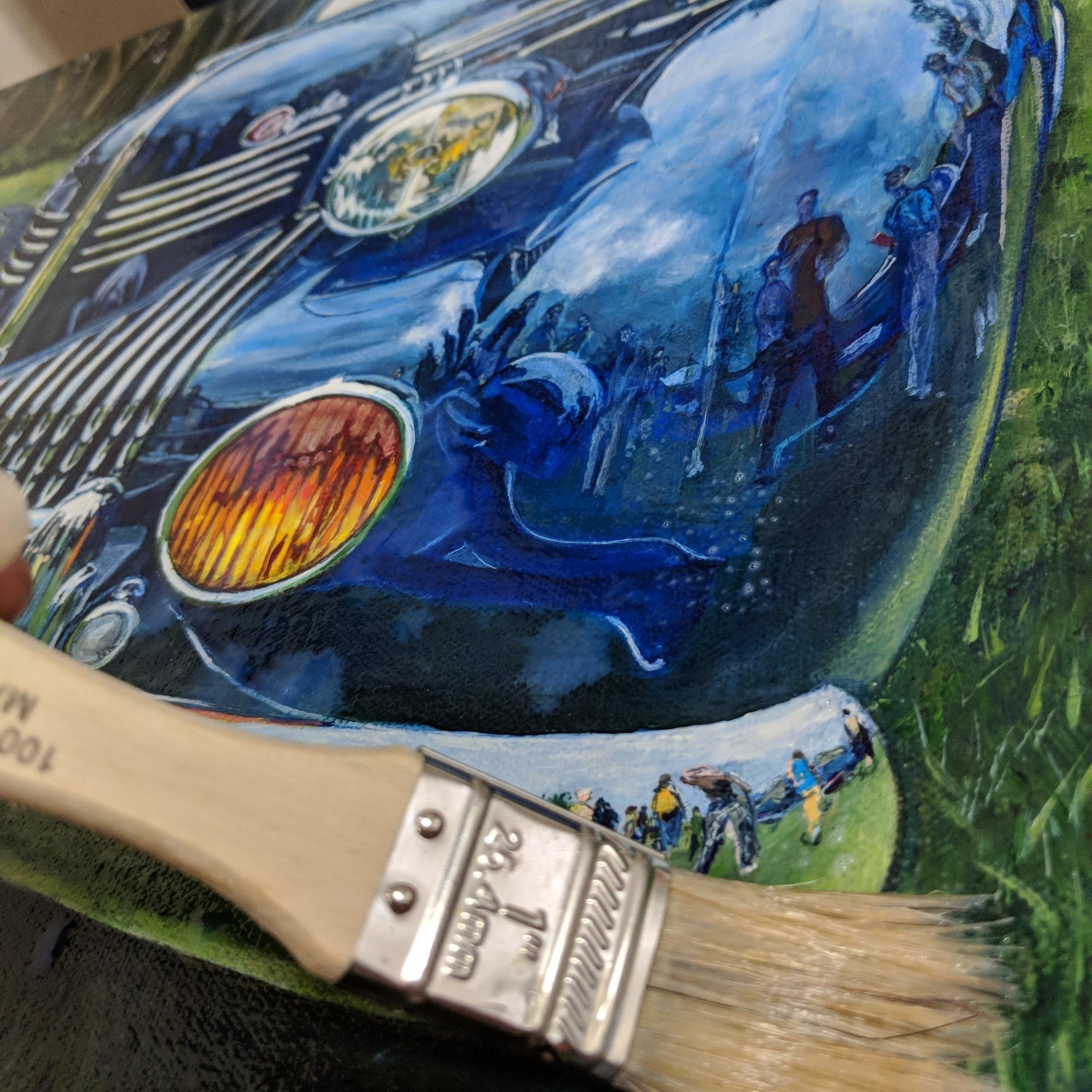 Varnishing 9 paintings upcoming - shanfannin | ello