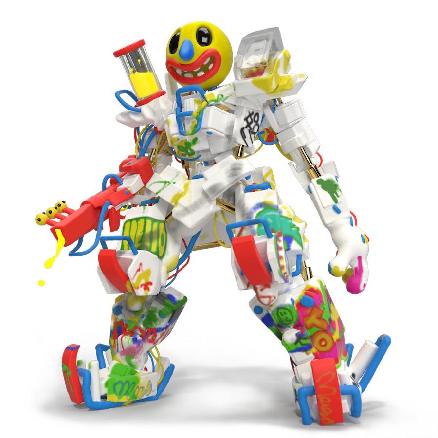 JOYbot Ready friendly, VR sculp - joy   ello