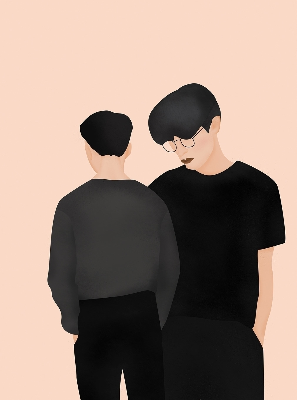 Duo - editorial, illustration - valeryl | ello