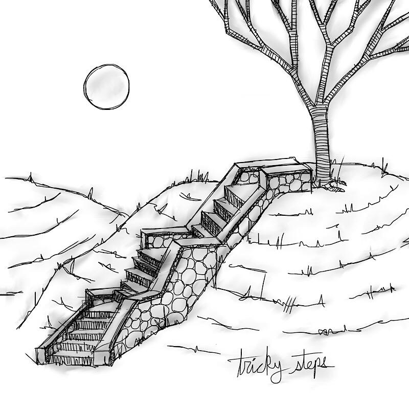 tricky steps - landscape, architecture - catswilleatyou | ello