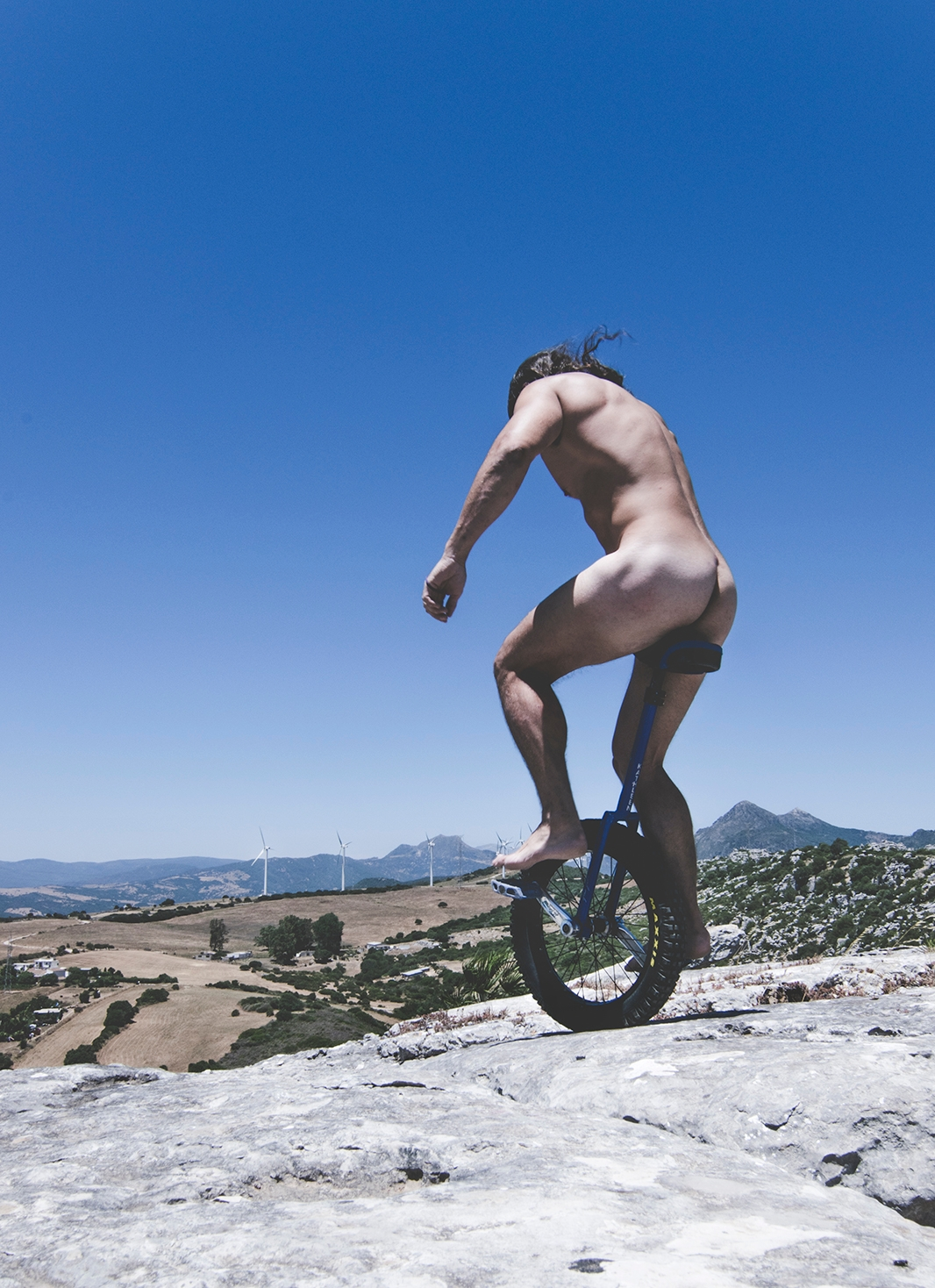 riding - naked, male, nudie, unicycle - natxodiego | ello