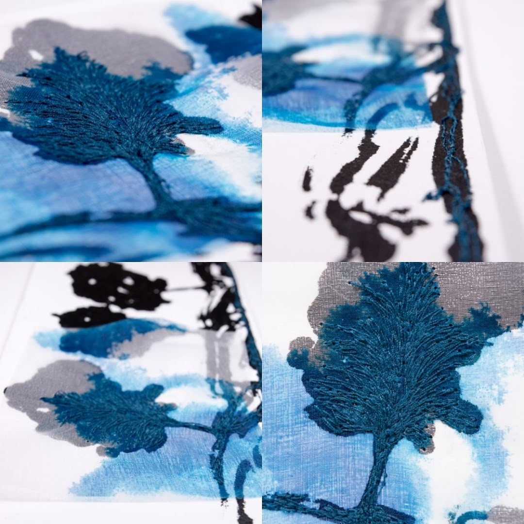 Blue tree (screen printing pape - monicasthreads | ello