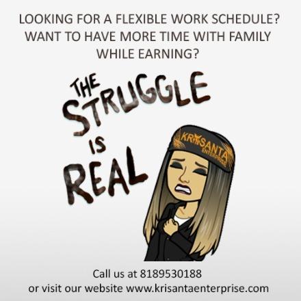 flexible work schedule? time fa - krisanta   ello
