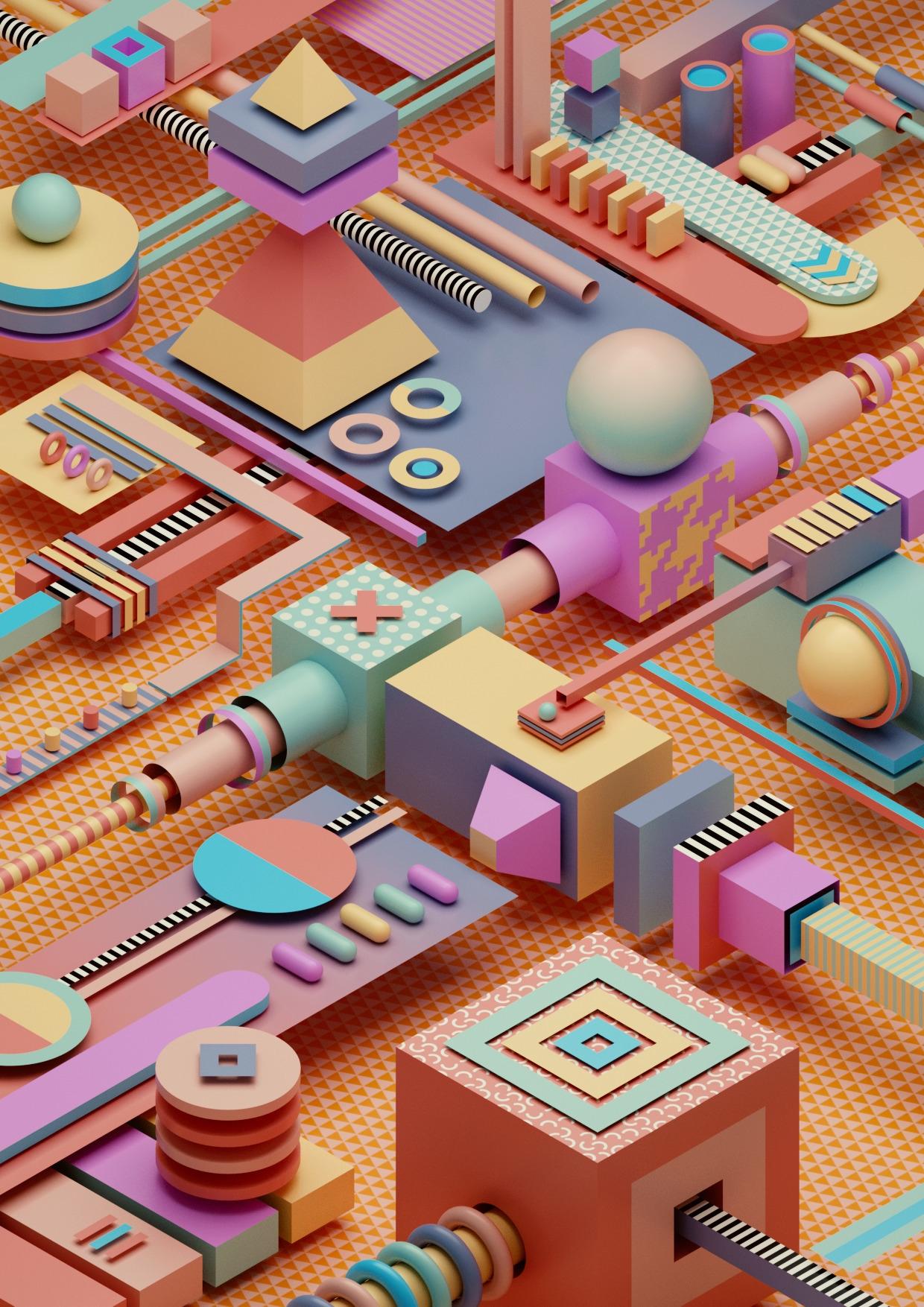 3D/, abstract, design, 3Dart - ikyste | ello