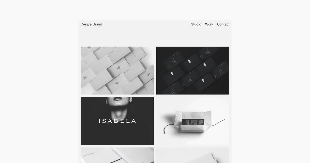 Introducing website. ;  - minimalism - cesarebrand | ello