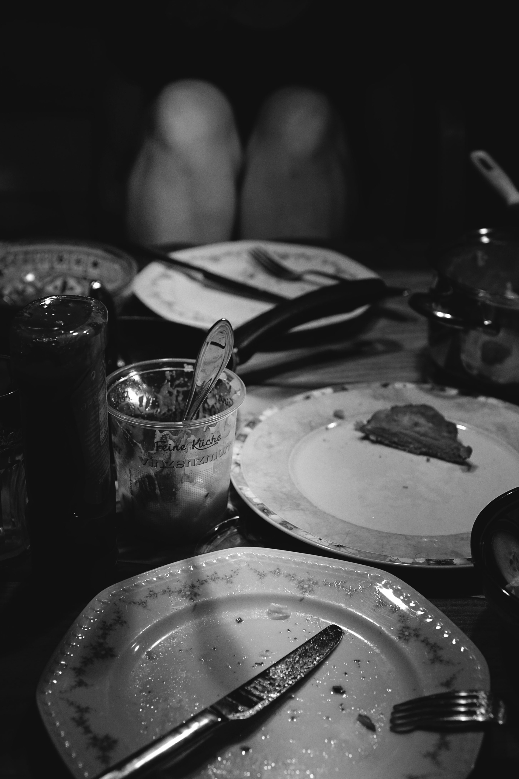 Schnitzel - nude, dinner, blackandwhite - obscure63 | ello