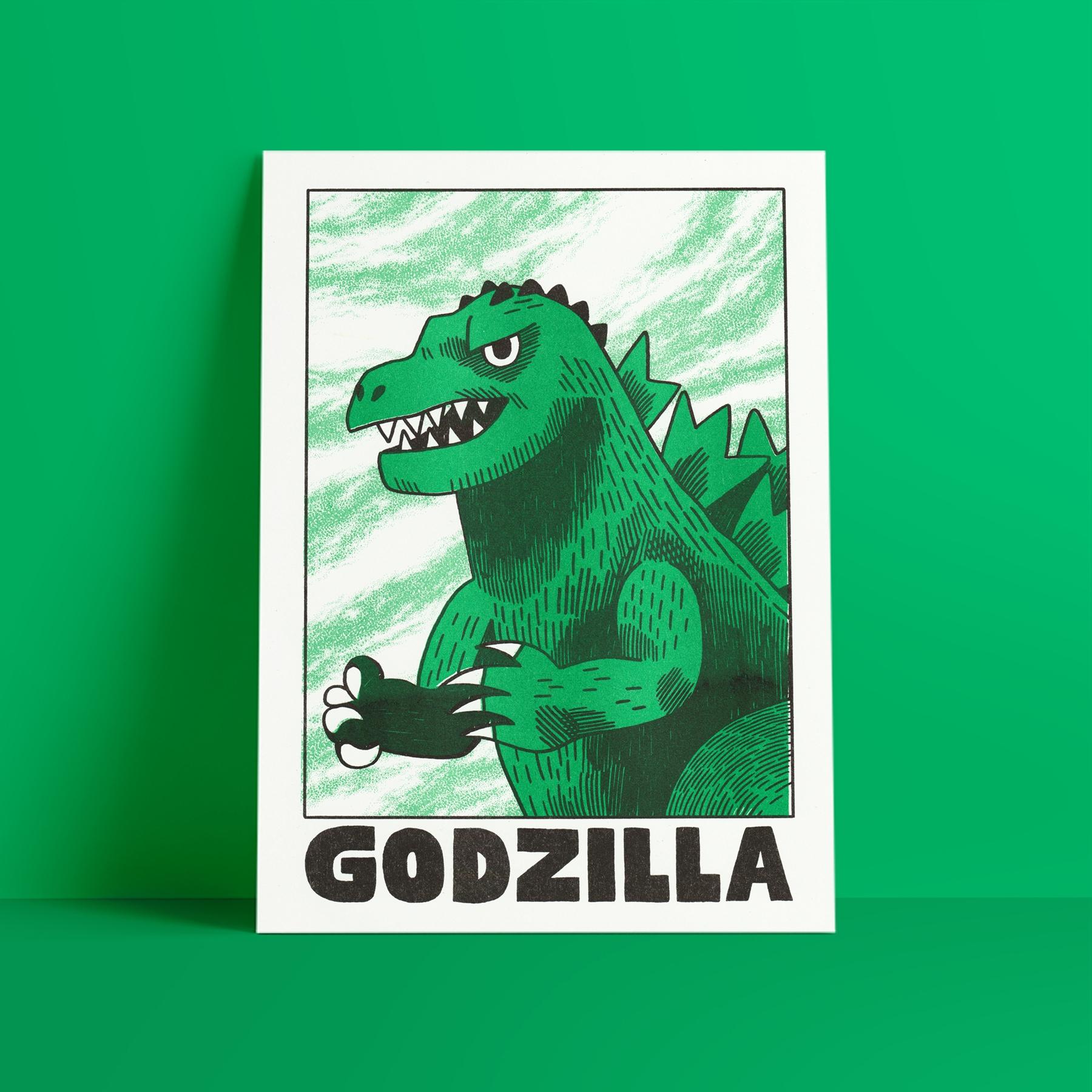 risograph print - illustration, poster - jackteagle | ello