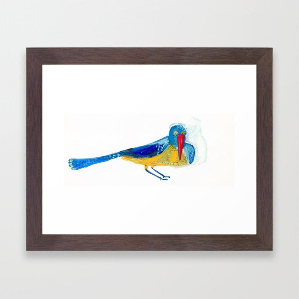 Yellow blue bird Art Print - babakesmaeli | ello