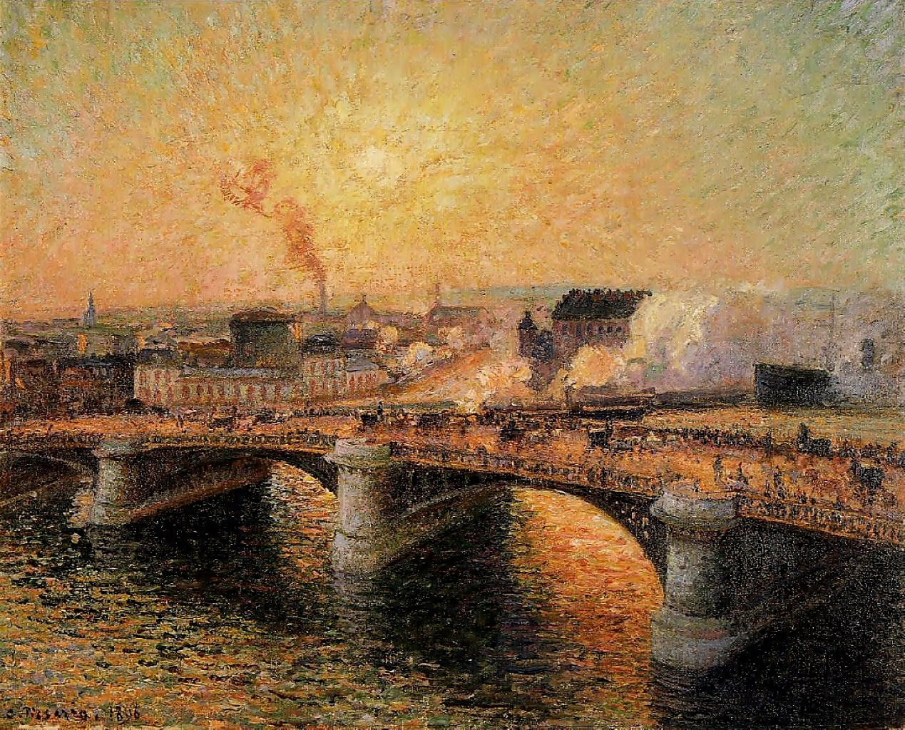 Pont Boieldieu, Rouen, Sunset,  - zorrojacques | ello